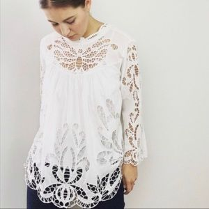 Harlyn Battenberg Lace Top Butterfly Cutout SM